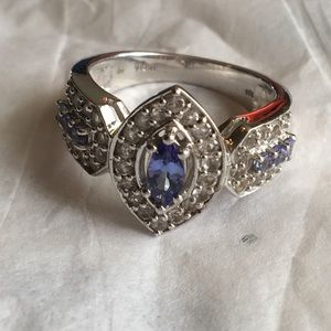 Tanzanite and sterling silver sz 8.